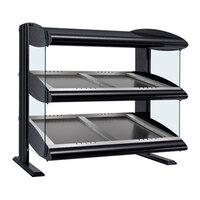 Hatco HZMS-30D Black 30 inch Slanted Double Shelf Heated Zone Merchandiser