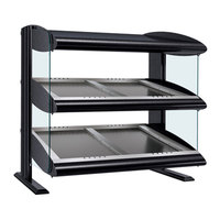 Hatco HZMS-24D Black 24 inch Slanted Double Shelf Heated Zone Merchandiser - 120V