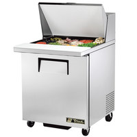 True TSSU-27-12M-B-ADA 27 inch Mega Top 1 Door Sandwich / Salad Prep Refrigerator