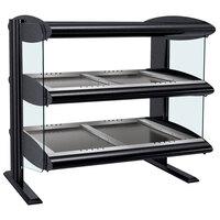 Hatco HZMH-48D Black 48 inch Horizontal Double Shelf Heated Zone Merchandiser