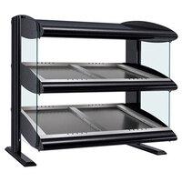 Hatco HZMS-36D Black 36 inch Slanted Double Shelf Heated Zone Merchandiser