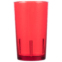 Cambro D12156 Del Mar 12 oz. Ruby Red Customizable Plastic Tumbler - 36/Case