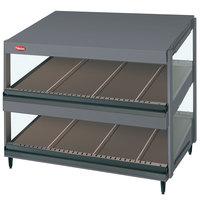 Hatco GRSDS-36D Gray Granite Glo-Ray 36 inch Slanted Double Shelf Merchandiser - 120V