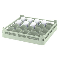 Vollrath 52675 Signature Full-Size Light Green 20-Cup 2 11/16 inch Short Rack