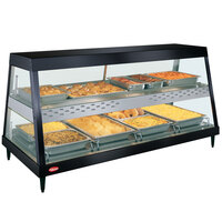 Hatco GRHD-4PD Black Stainless Steel Glo-Ray 58 1/2 inch Full Service Dual Shelf Merchandiser