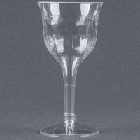 Fineline Flairware 2207 6 oz. Clear Plastic Wine Goblet - 2 Piece 120 / Case
