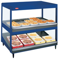 Hatco GRSDS/H-41DHW Navy Blue Glo-Ray 41 inch High Wattage Horizontal / Slanted Double Shelf Merchandiser
