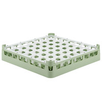 Vollrath 52699 Signature Full-Size Light Green 49-Compartment 2 13/16 inch Short Glass Rack