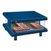 Hatco GR2SDS-30 Navy Blue Glo-Ray Designer 30 inch Slanted Single Shelf Merchandiser - 120V