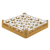 Vollrath 52691 Signature Lemon Drop Full-Size Gold 20-Compartment 2 13/16 inch Short Glass Rack