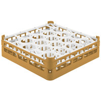 Vollrath 52702 Signature Lemon Drop Full-Size Gold 20-Compartment 4 13/16 inch Medium Plus Glass Rack