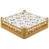Vollrath 52702 Signature Lemon Drop Full-Size Gold 20-Compartment 4 13/16 inch Medium Plus Glass Rack