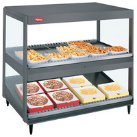 Hatco GRSDS/H-41D Gray Granite Glo-Ray 41 inch Horizontal / Slanted Double Shelf Merchandiser