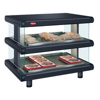 Hatco GR2SDH-60D Black Glo-Ray Designer 60 inch Horizontal Double Shelf Merchandiser