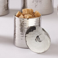 American Metalcraft DWHMSB5 Hammered Stainless Steel 5 oz. Sugar Bowl with Lid