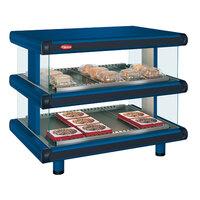 Hatco GR2SDH-54D Navy Blue Glo-Ray Designer 54 inch Horizontal Double Shelf Merchandiser