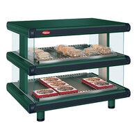 Hatco GR2SDH-48D Hunter Green Glo-Ray Designer 48 inch Horizontal Double Shelf Merchandiser