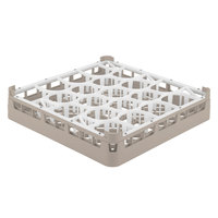 Vollrath 52692 Signature Lemon Drop Full-Size Beige 20-Compartment 3 1/4 inch Short Plus Glass Rack