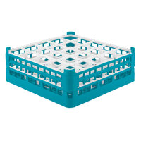 Vollrath 52711 Signature Full-Size Light Blue 25-Compartment 5 11/16 inch Tall Glass Rack