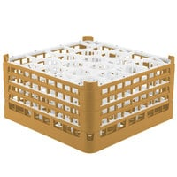 Vollrath 52709 Signature Lemon Drop Full-Size Gold 20-Compartment 9 1/16 inch XX-Tall Plus Glass Rack