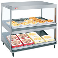 Hatco GRSDS/H-41D White Granite Glo-Ray 41 inch Horizontal / Slanted Double Shelf Merchandiser