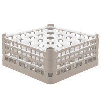 Vollrath 52712 Signature Full-Size Beige 25-Compartment 7 1/8 inch X-Tall Glass Rack