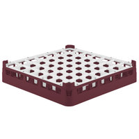 Vollrath 52699 Signature Full-Size Burgundy 49-Compartment 2 13/16 inch Short Glass Rack