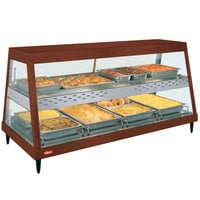 Hatco GRHD-4PD Antique Copper Stainless Steel Glo-Ray 58 1/2 inch Full Service Dual Shelf Merchandiser