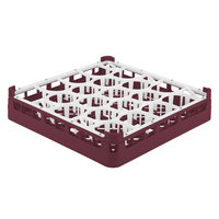 Vollrath 52692 Signature Lemon Drop Full-Size Burgundy 20-Compartment 3 1/4 inch Short Plus Glass Rack