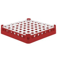 Vollrath 52699 Signature Full-Size Red 49-Compartment 2 13/16 inch Short Glass Rack
