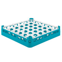 Vollrath 52689 Signature Full-Size Light Blue 36-Compartment 2 13/16 inch Short Glass Rack