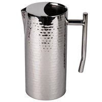 American Metalcraft DWHMWP64 Hammered Stainless Steel 2 qt. Water Pitcher