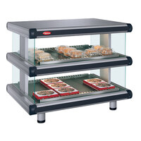 Hatco GR2SDH-54D Gray Granite Glo-Ray Designer 54 inch Horizontal Double Shelf Merchandiser