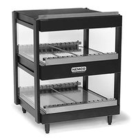 Nemco 6480-24-B Black 24 inch Horizontal Double Shelf Merchandiser - 120V
