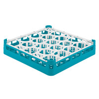 Vollrath 52691 Signature Lemon Drop Full-Size Light Blue 20-Compartment 2 13/16 inch Short Glass Rack