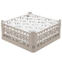 Vollrath 52707 Signature Lemon Drop Full-Size Beige 20-Compartment 7 11/16 inch X-Tall Plus Glass Rack