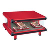 Hatco GR2SDS-36 Warm Red Glo-Ray Designer 36 inch Slanted Single Shelf Merchandiser - 120V