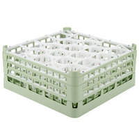 Vollrath 52706 Signature Lemon Drop Full-Size Light Green 20-Compartment 7 1/8 inch X-Tall Glass Rack