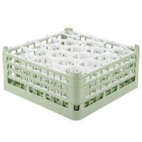 Vollrath 52706 Signature Lemon Drop Full-Size Light Green 20-Compartment 7 1/8 inch X-Tall Glass Rack