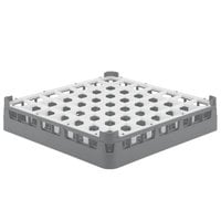 Vollrath 52699 Signature Full-Size Gray 49-Compartment 2 13/16 inch Short Glass Rack