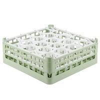 Vollrath 52703 Signature Lemon Drop Full-Size Light Green 20-Compartment 5 11/16 inch Tall Glass Rack
