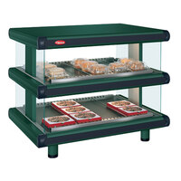 Hatco GR2SDH-54D Hunter Green Glo-Ray Designer 54 inch Horizontal Double Shelf Merchandiser