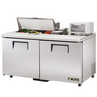 True TSSU-60-8-ADA 60 inch ADA Compliant Two Door Sandwich / Salad Prep Refrigerator