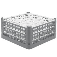 Vollrath 52709 Signature Lemon Drop Full-Size Gray 20-Compartment 9 1/16 inch XX-Tall Plus Glass Rack
