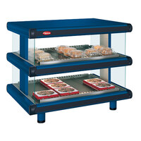 Hatco GR2SDH-42D Navy Blue Glo-Ray Designer 42 inch Horizontal Double Shelf Merchandiser