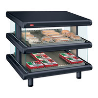 Hatco GR2SDS-24D Black Glo-Ray Designer 24 inch Slanted Double Shelf Merchandiser - 120V