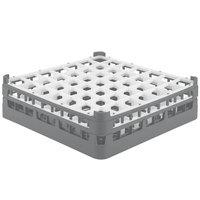 Vollrath 52722 Signature Full-Size Gray 49-Compartment 4 5/16 inch Medium Glass Rack