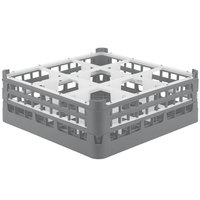 Vollrath 52728 Signature Full-Size Gray 9-Compartment 5 11/16 inch Tall Glass Rack
