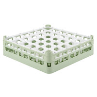 Vollrath 52714 Signature Full-Size Light Green 36-Compartment 4 5/16 inch Medium Glass Rack