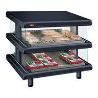 Hatco GR2SDS-42D Black Glo-Ray Designer 42 inch Slanted Double Shelf Merchandiser